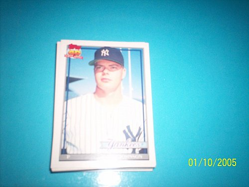 1991 Topps Traded rookie card jeff johnson yankees #62T mint free ship