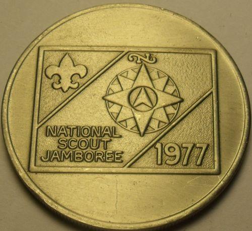 Gem Unc Boy Scouts National Jamboree 1977 Medallion~Moraine State Park P.A.~Fr/S