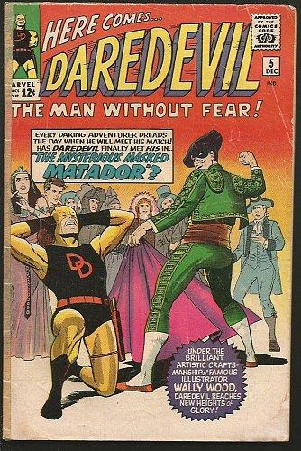 DAREDEVIL #5 Marvel Comics 1st Series Stan Lee WALLY WOOD Costume Change