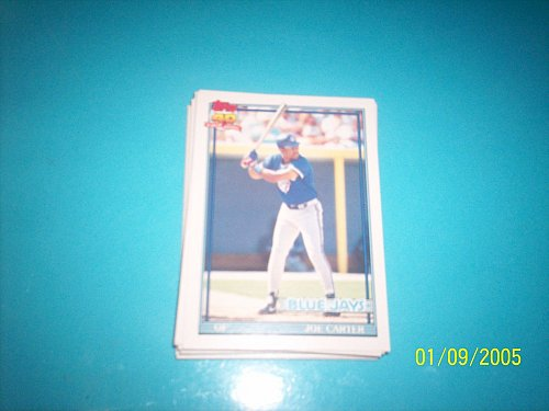 1991 Topps Traded joe carter blue jays #20T mint free ship