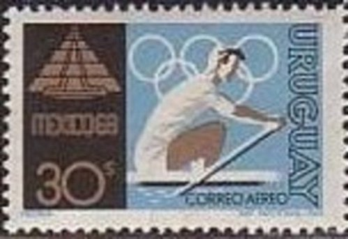 Uruguay 1v mnh Stamp 1969 Mi1132 Summer Olympic Games 1968, Mexico City