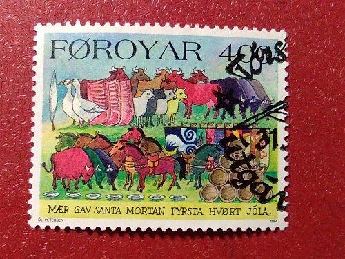 Faroe Islands used 2v set 1994 Christmas Stamps