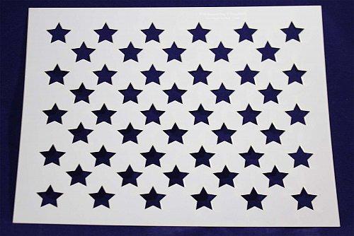 """50 Star Stencil 14 mil Mylar- 9"""" H x 11.5"""" L- Painting/Crafts/Stencil/Template"""