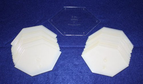 """Mylar 2"""" Sides- 90° Flattened Hexagons 51 Pces - Quilting / Sewing Templates -"""