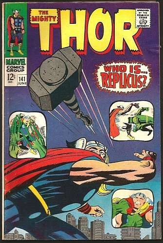 THOR #141 SILVER AGE JACK KIRBY STAN LEE Marvel Comics 1967 Replicus