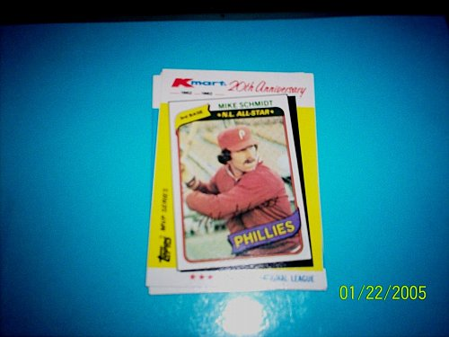 MIKE SCHMIDT PHILLIES 1982 TOPPS KMART 20TH ANNIVERSARY #39 OF 44