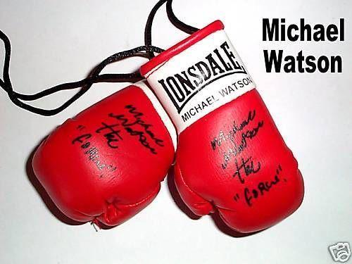 Autographed Mini Boxing Gloves Michael Watson