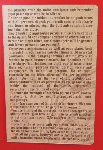 """Desiderata cover 40 lined pages """" School Exercise / Writing Book """"TOP QUALITY"""""""
