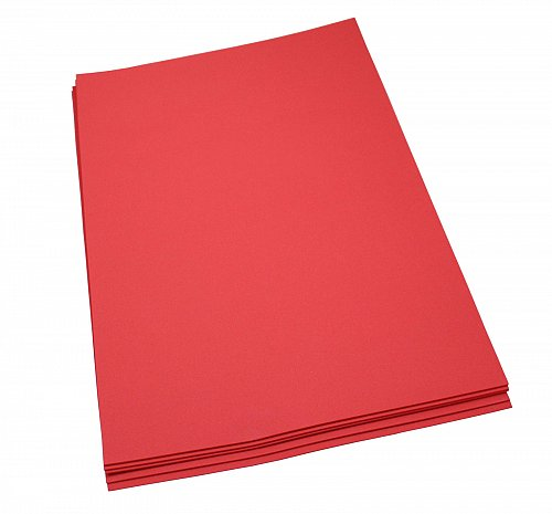 Craft Foam Sheets--12 x 18 Inches -Red- 5 Sheets-2 MM Thick