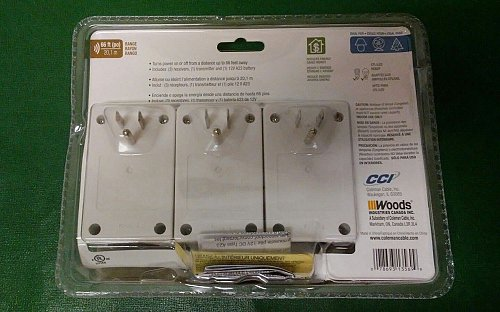 Wireless Remote Control (3-Pack) Woods 13569 Indoor any electric household 120v