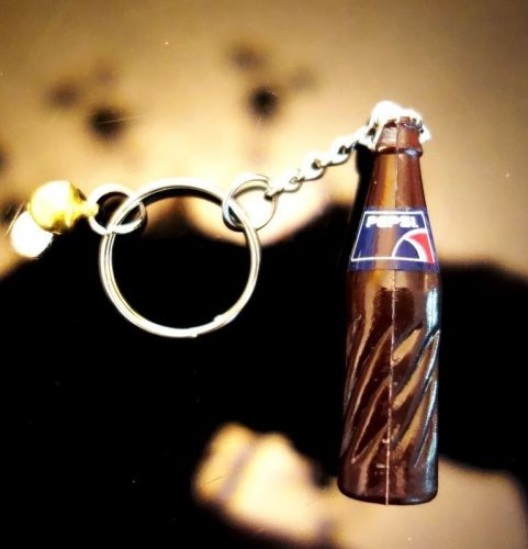 1 PEPSI SMALL BOTTLES COLLECTIBLE MINIATURE KEY RINGS KEY CHAIN 01