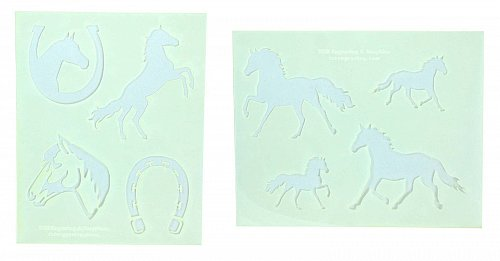 Horse/Horseshoe Stencils-2 Piece Set -Mylar 14 Mil Painting/CraftsTemplate