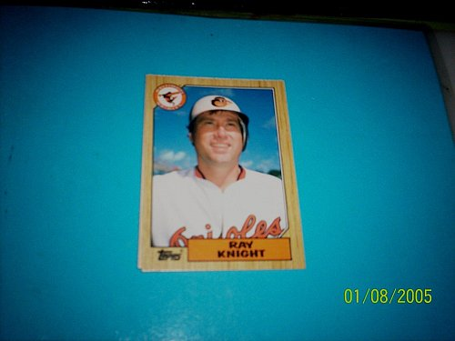 1987 Topps Traded Baseball CARD OF RAY KNIGHT ORIOLES #T59 MINT