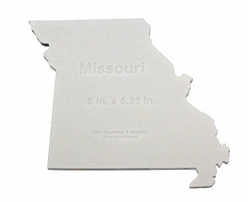 """State of Missouri ~ 1/4"""" Quilt Template- Acrylic - Long Arm/ Sew"""