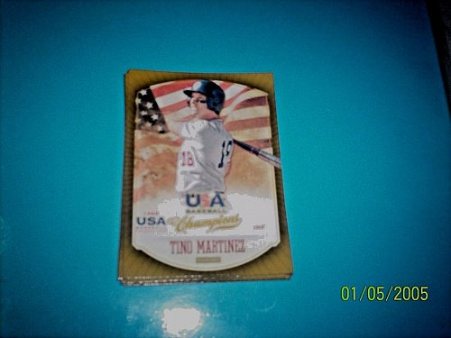 TINO MARTINEZ #37 2013 Panini USA Champions Gold Boarder Card FREE SHIP