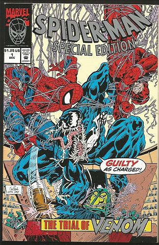 SPIDER-MAN SPECIAL EDITION #1 VENOM HIGH GRADE MarvelComics EMBOSSED COVER+ 1992