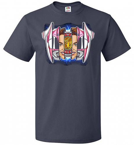 Pink Ranger Unisex T-Shirt Pop Culture Graphic Tee (2XL/J Navy) Humor Funny Nerdy Gee
