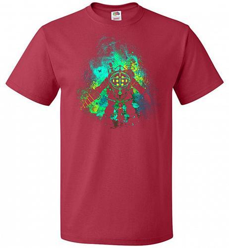 Raputure Art Unisex T-Shirt Pop Culture Graphic Tee (4XL/True Red) Humor Funny Nerdy