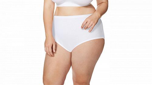 10 Pair JMS Cool Comfort High-Waist Women's Cotton Brief Panties #1615C5