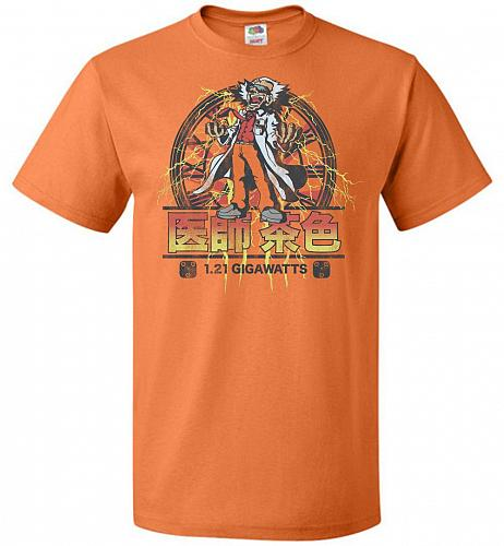 Back To Japan Unisex T-Shirt Pop Culture Graphic Tee (L/Tennessee Orange) Humor Funny