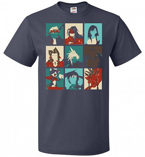 Final Pop Unisex T-Shirt Pop Culture Graphic Tee (3XL/J Navy) Humor Funny Nerdy Geeky