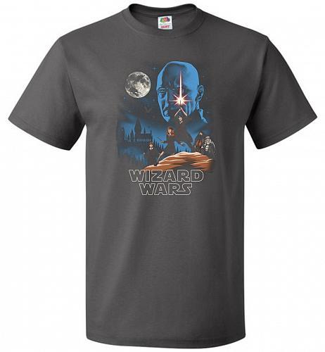 Wizard Wars Unisex T-Shirt Pop Culture Graphic Tee (6XL/Charcoal Grey) Humor Funny Ne