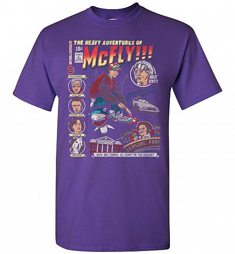 Heavy Adventures Of McFly! Unisex T-Shirt Pop Culture Graphic Tee (3XL/Purple) Humor