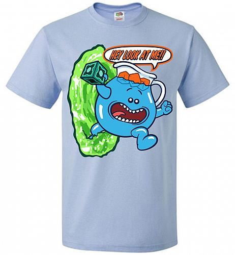 Meseeks Man Unisex T-Shirt Pop Culture Graphic Tee (S/Light Blue) Humor Funny Nerdy G