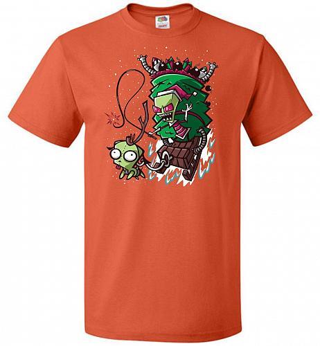Zime That Stole Christmas Unisex T-Shirt Pop Culture Graphic Tee (3XL/Burnt Orange) H
