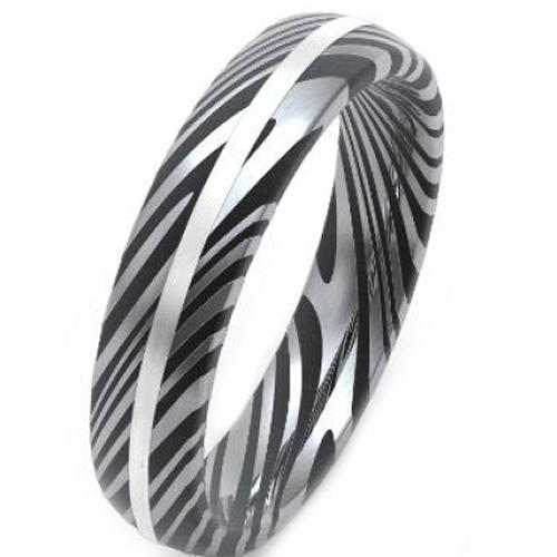coi Jewelry Tungsten Carbide Damascus Wedding Band Ring