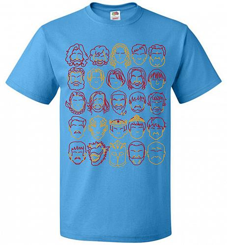 Game Of Throne Heads Minimalism Adult Unisex T-Shirt Pop Culture Graphic Tee (2XL/Pac