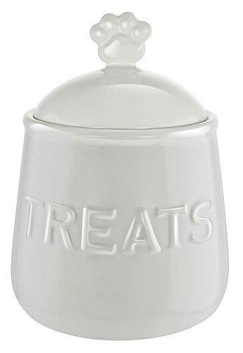 :10898U - Paw Handle Airtight Ceramic Pet Treat Container