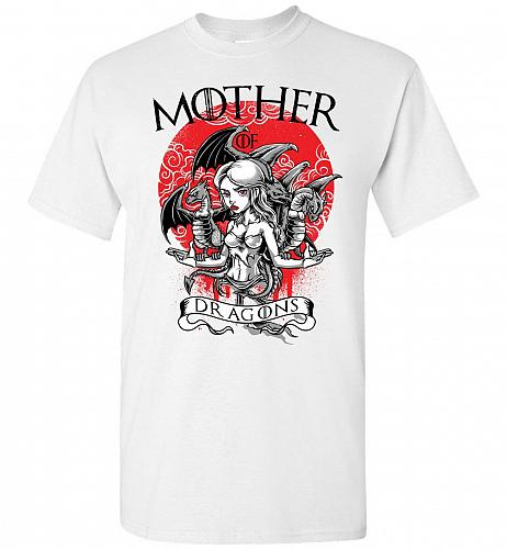 Mother of Dragons Unisex T-Shirt Pop Culture Graphic Tee (S/White) Humor Funny Nerdy