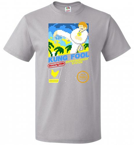 Kung Fool Nintendo Cover Parody Adult Unisex T-Shirt Pop Culture Graphic Tee (6XL/Sil