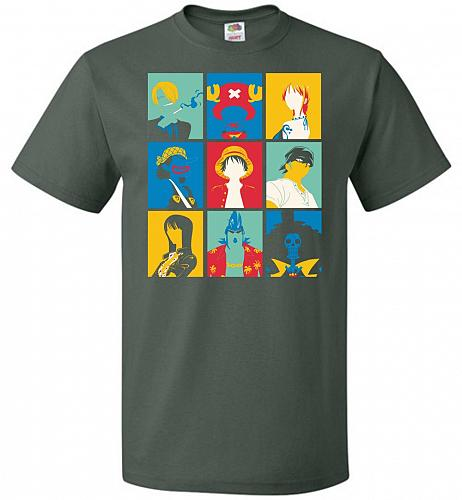 Popiece Art Unisex T-Shirt Pop Culture Graphic Tee (3XL/Forest Green) Humor Funny Ner