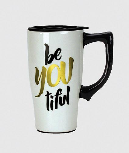 :10487U - Be You Tiful 16oz Ceramic Travel Mug
