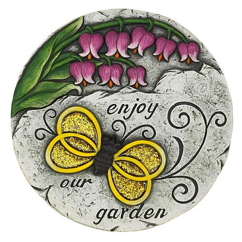 """*18540U - Enjoy Our Garden Yellow Butterfly 10"""" Stepping Stone"""