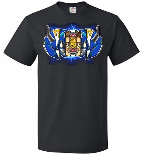 Blue Ranger Unisex T-Shirt Pop Culture Graphic Tee (L/Black) Humor Funny Nerdy Geeky