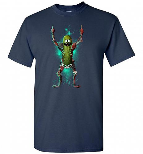 It's Pickle Rick! Unisex T-Shirt Pop Culture Graphic Tee (Youth XL/Navy) Humor Funny