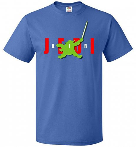 Air Jedi Unisex T-Shirt Pop Culture Graphic Tee (3XL/Royal) Humor Funny Nerdy Geeky S