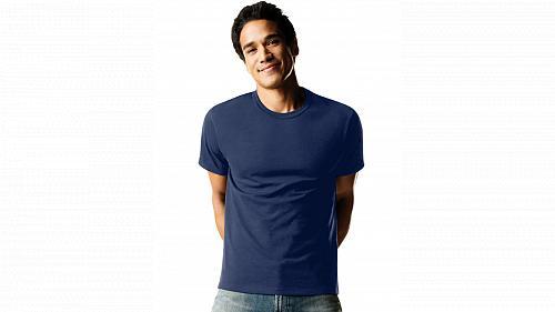 8 Hanes Men's ComfortSoft Dyed TAGLESS Crewneck Undershirt #2165P4 sz S-2XL