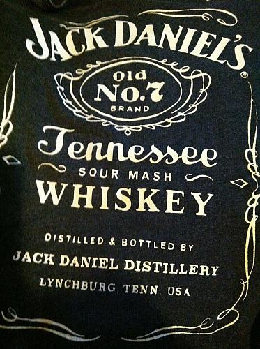 Men's L NWT Retro Black Jack Daniels Whisky No 7 Cotton/Polyester T-Shirt