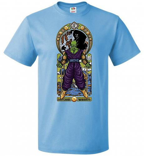 Namekian Warrior Unisex T-Shirt Pop Culture Graphic Tee (M/Aquatic Blue) Humor Funny