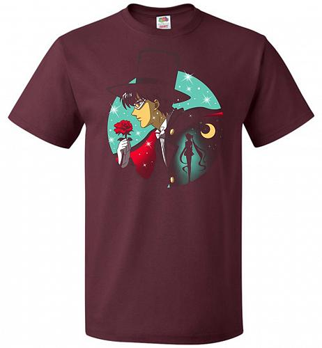 Knight Of The Moonlight Unisex T-Shirt Pop Culture Graphic Tee (XL/Maroon) Humor Funn