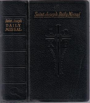SAINT JOSEPH DAILY MISSAL :: 1961 :: FREE Shipping