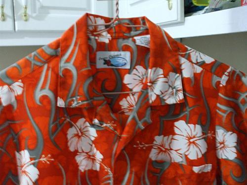 Ocean Current Childs Hawaiian Shirt SS Polyester Size XL-7X EUC