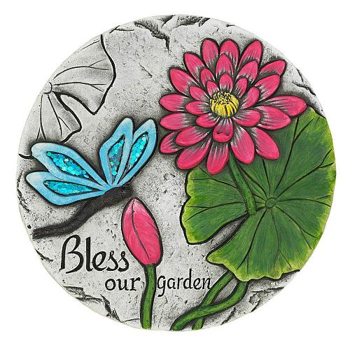 """*18539U - Bless Our Garden Blue Butterfly 10"""" Stepping Stone"""