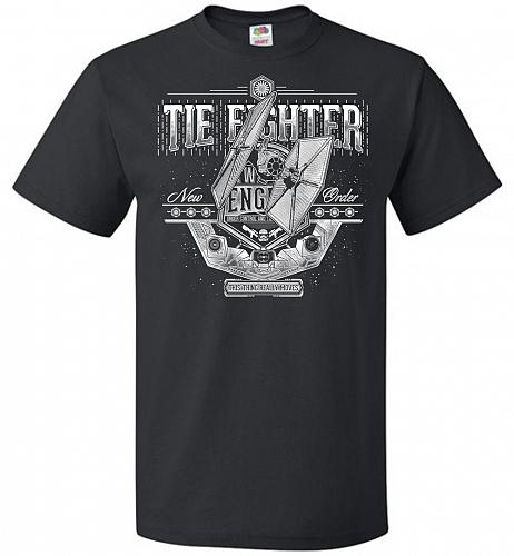 New Order Tie Fighter Unisex T-Shirt Pop Culture Graphic Tee (4XL/Black) Humor Funny