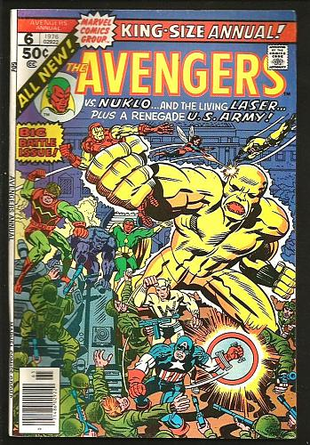 Avengers Annual #6 Marvel Comics 1974 Conway Perez ALL NEW Nuklo Living Lazer