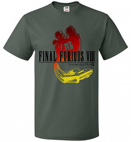 Final Furious 8 Adult Unisex T-Shirt Pop Culture Graphic Tee (3XL/Forest Green) Humor